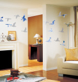 Bird Formation in the Clouds Wall Decal