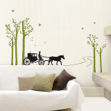 Quiet Stage Coach Ride Wall Decal