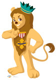 Cowardly Lion - Kids Wizard of Oz Cardboard Cutouts