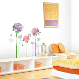 Blooming Large Roses Wall Decal