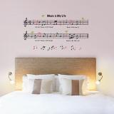 Music is My Life ウォールステッカー・壁用シール ウォールステッカー