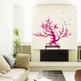 Contemporary Pink Bonsai Muursticker