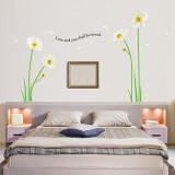 Poppy Flowers and Love Wall Decal