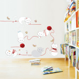 Kitties and Yarn Wall Decal