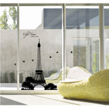 Eiffel Tower Silhouette Wandtattoo