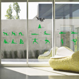 Instructional Yoga Poses Stance Wall Decal