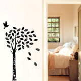 Black Enchanted Wishing Tree Wall Decal