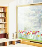 Growing Flowers Window Decal Sticker Naklejka na okno
