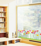 Growing Flowers Window Decal Sticker Window Decal