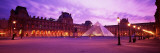 Famous Museum, Sunset, Lit Up at Night, Louvre, Paris, France Wall Decal by  Panoramic Images