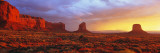 Sunrise, Monument Valley, Arizona, USA Wall Decal by  Panoramic Images