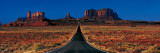 Route 163, Monument Valley Tribal Park, Arizona, USA Sticker mural par  Panoramic Images