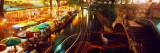 Night, Evening, Nightlife, Riverwalk, San Antonio, Texas, USA Wall Decal by  Panoramic Images
