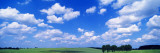 Cumulus Clouds with Landscape, Blue Sky, Germany, USA Wall Decal by  Panoramic Images