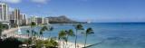 Buildings on the Beach, Waikiki Beach, Honolulu, Oahu, Hawaii, USA Wallstickers af Panoramic Images