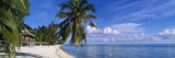 Tourist Resort on the Beach, Matira Beach, Bora Bora, French Polynesia Wall Decal by  Panoramic Images