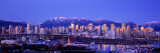 Twilight, Vancouver Skyline, British Columbia, Canada Wall Decal by  Panoramic Images