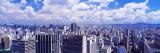 Skyline, Cityscape, Sao Paulo, Brazil Wall Decal by  Panoramic Images