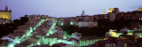 Light Illuminated in the City, Siena, Tuscany, Italy Wallstickers af Panoramic Images,