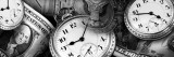 Clocks and Dollar Bills Muursticker van Panoramic Images,