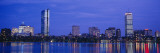 Night, Skyline, Back Bay, Boston, Massachusetts, USA Wall Decal by Panoramic Images 