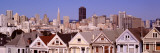 High Angle View of Houses, San Francisco, California, USA Autocollant mural par Panoramic Images