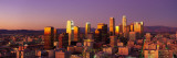 Skyline at Sunset, Los Angeles, California, USA Wallstickers af Panoramic Images