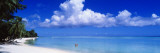 Ocean, Water, Clouds, Relaxing, Matira Beach, Tahiti, French Polynesia, South Pacific, Island Wall Decal by  Panoramic Images