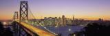 Bay Bridge at Night, San Francisco, California, USA Wall Decal by  Panoramic Images