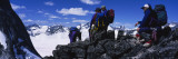 Hikers on the Rocks, Crescent Spire, British Columbia, Canada Wall Decal by  Panoramic Images