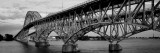 South Grand Island Bridges, New York State, USA Wallsticker af Panoramic Images,