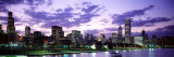 Sunset, Sky, Skyline, Twilight, Downtown, City Scene, Loop, Chicago, Illinois, USA Wall Decal by  Panoramic Images