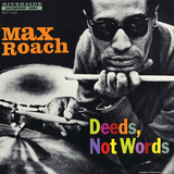 Max Roach - Deeds, Not Words Autocollant mural par Paul Bacon