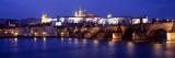 Night, Charles Bridge, Vltava River, Prague, Czech Republic Wall Decal by  Panoramic Images