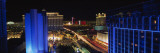 Buildings Lit Up at Night, Las Vegas, Nevada, USA Wall Decal by Panoramic Images 