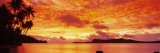 Sunset, Huahine Island, Tahiti Wallsticker af Panoramic Images,
