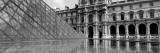 Black and White, Exterior, the Louvre, Paris, France Wall Decal by  Panoramic Images