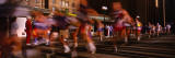 Blurred Motion of Marathon Runners, Houston, Texas, USA Wallstickers af Panoramic Images