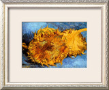 Two Cut Sunflowers, c.1887 Framed Giclee Print by Vincent van Gogh