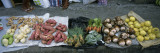 High Angle View of Vegetables in a Market, St. Lucia, Windward Islands, West Indies Muursticker van Panoramic Images,