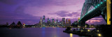 Port Jackson, Sydney Harbor and Bridge Night, Sydney, Australia Wall Decal by  Panoramic Images