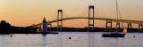 Bridge, Newport, Rhode Island, USA Wandtattoo von  Panoramic Images