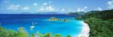 Ocean, Beach, Water, Trunk Bay, St. John, Virgin Islands, West Indies Kalkomania ścienna autor Panoramic Images