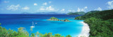 Ocean, Beach, Water, Trunk Bay, St. John, Virgin Islands, West Indies Vinilo decorativo por Panoramic Images