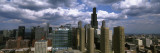 Clouds Over Skyscrapers in a City, Chicago, Illinois, USA Wall Decal by Panoramic Images