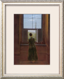Woman at the Window Framed Giclee Print by Caspar David Friedrich