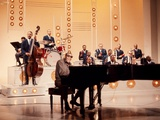 Ray Charles Recording Hollywood Palace Television Show, 1966 Wall Decal