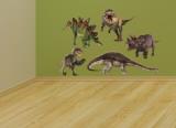 Dinosaur Group Layout Kalkomania ścienna