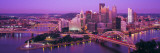 Dusk, Pittsburgh, Pennsylvania, USA Wallsticker af Panoramic Images,