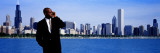 Businessman, Chicago, Illinois, USA Wall Decal by  Panoramic Images
